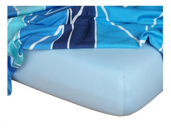 Obrázok z Jersey prostěradlo 60x120x10 cm II.jakost světle modré
