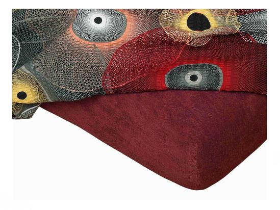 Obrázok z Froté prostěradlo 180x200x15 cm bordó II.jakost