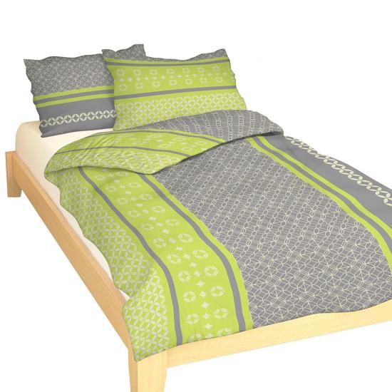 Obrázok z Povlečení bavlna Ingrid zelená 140x200, 70x90 cm II.jakost