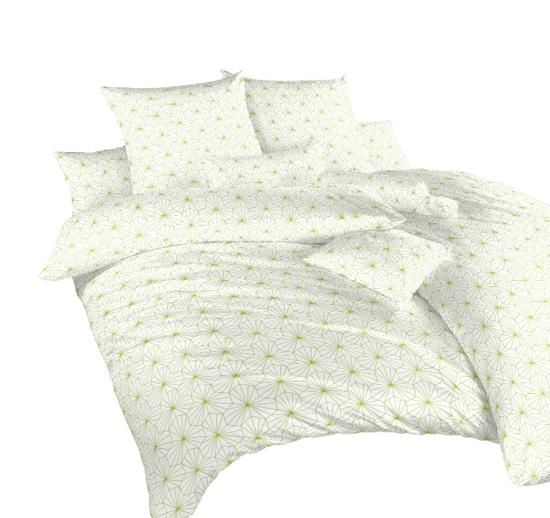 Obrázok z Povlečení krep Krystal kiwi na bílém 240x200, 2x70x90 cm