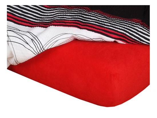 Obrázok z Froté prostěradlo do kočárku 35x75x2 cm červená