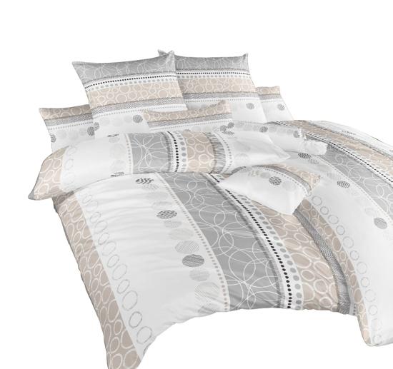 Obrázok z Povlečení bavlna Ateliér béžový 140x200, 70x90 II.jakost