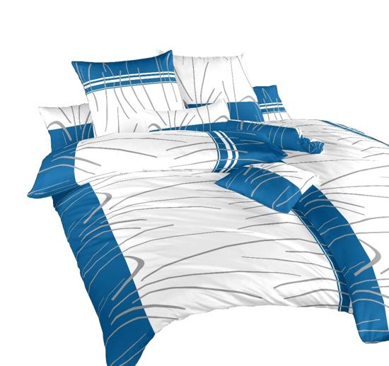 Obrázok z Povlečení bavlna Tenerife modré 140x200, 70x90 cm II.jakost