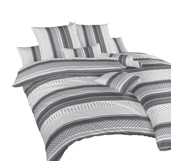 Obrázok z Povlečení bavlna Erik šedý 140x200, 70x90 cm II.jakost