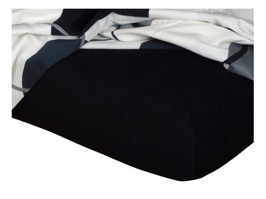 Obrázok z Froté prostěradlo 90x200x20 cm černé II.jakost