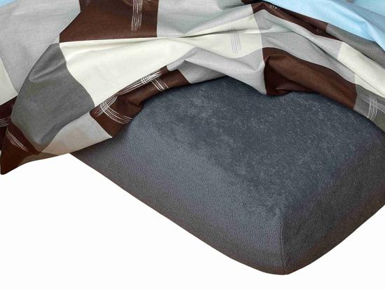 Obrázok z Froté prostěradlo 90x200x25 cm tmavě šedé II.jakost