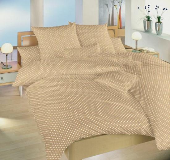 Obrázok z Povlečení bavlna Puntík bílý na béžovém