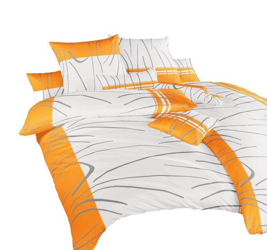 Obrázok z Povlečení bavlna Tenerife oranžové 240x200, 2x70x90 cm