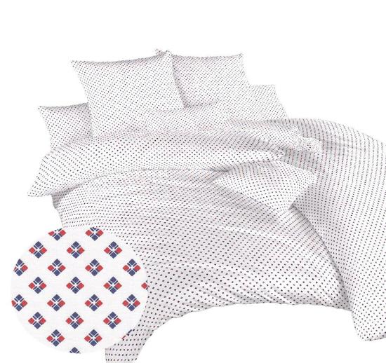 Obrázok z Povlečení bavlna Carré červené 140x200, 70x90 cm