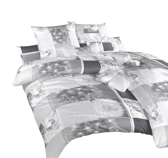 Obrázok z Povlečení bavlna Pampelišky 3D šedé 140x220, 70x90 cm
