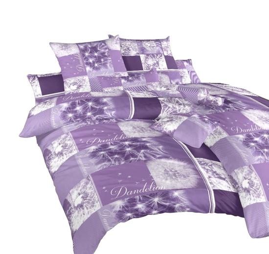 Obrázok z Povlečení bavlna Pampelišky 3D fialové 140x200, 70x90 cm