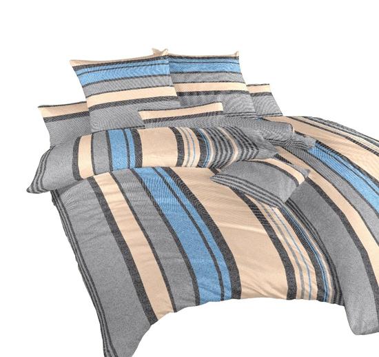 Obrázok z Povlečení krep Lino modré 140x200, 70x90 cm