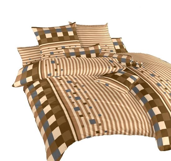 Obrázok z Povlečení krep Argentina hnědá 70x90 cm povlak