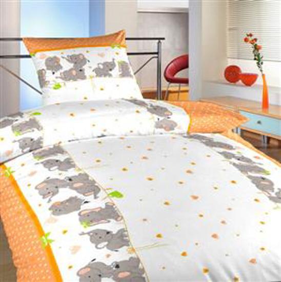 Obrázok z Povlečení bavlna Sloni oranžoví