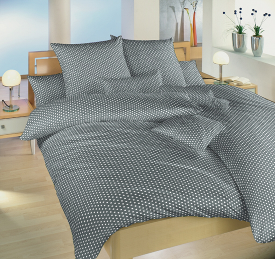 Obrázok z Povlečení bavlna Hvězdička bílá na šedém 140x220, 70x90 cm
