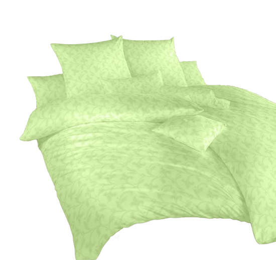 Obrázok z Povlečení damašek Rokoko zelené 50x70 cm povlak