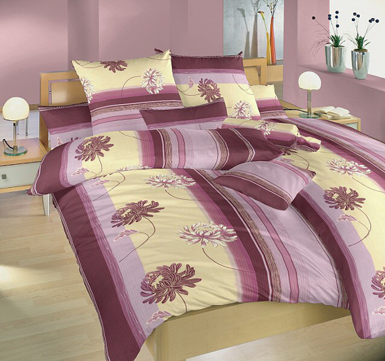 Obrázok z Povlečení bavlna Achátové květy 140x220, 70x90 cm