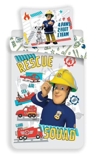 """Obrázok z Disney povlečení do postýlky Požárník Sam """"Rescue squad"""" baby 100x135, 40x60 cm"""
