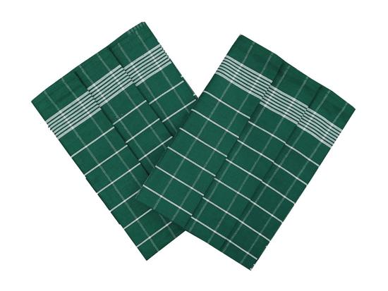 Obrázok z Utěrka Pozitiv Egyptská bavlna smaragdová/bílá - 3 ks