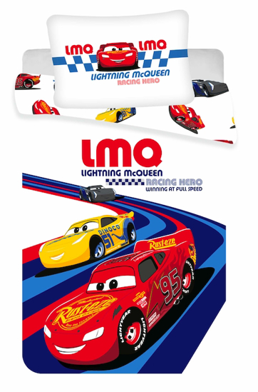 """Obrázok z Disney povlečení do postýlky Cars """"Racing hero"""" baby 100x135, 40x60 cm"""